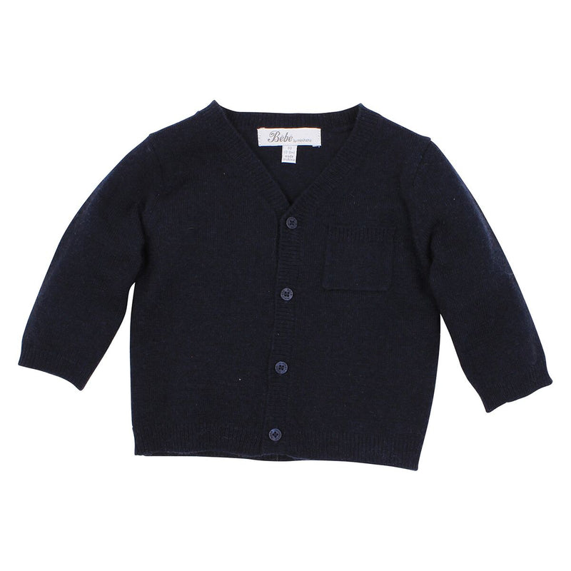 Bebe Hudson Dressy Navy Cardigan at Little Steps