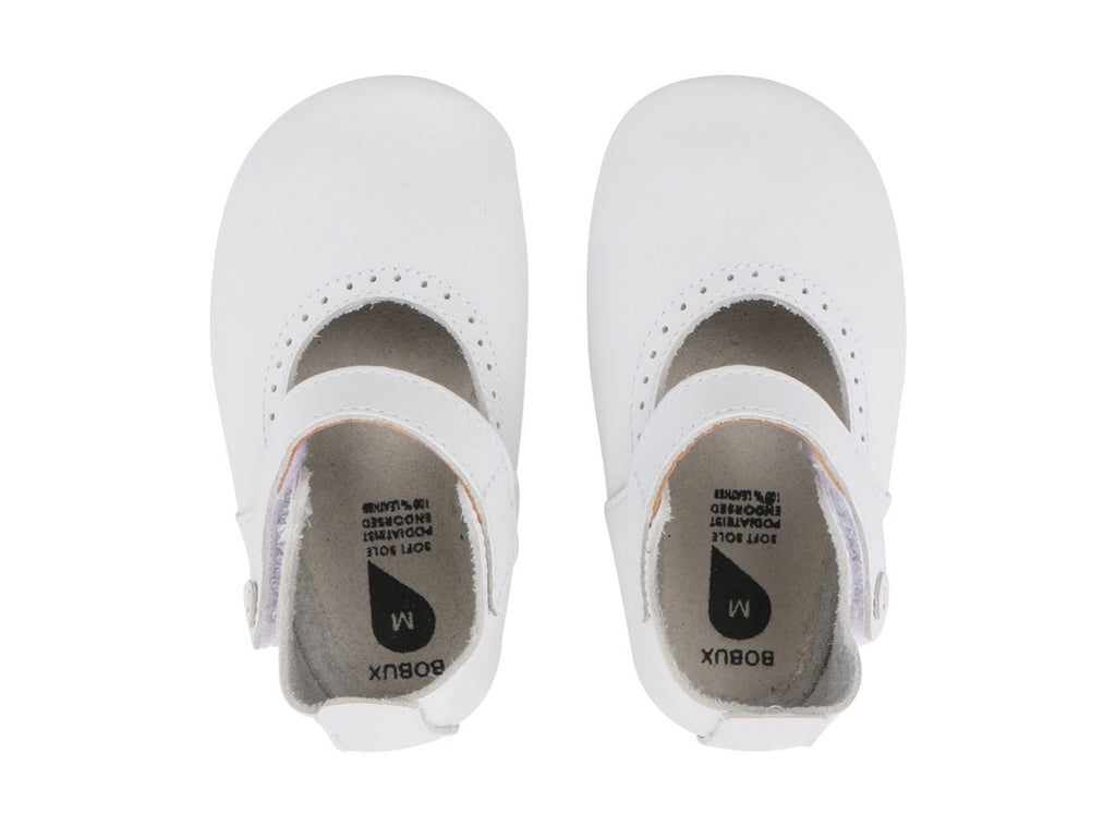Bobux Soft Sole White Delight