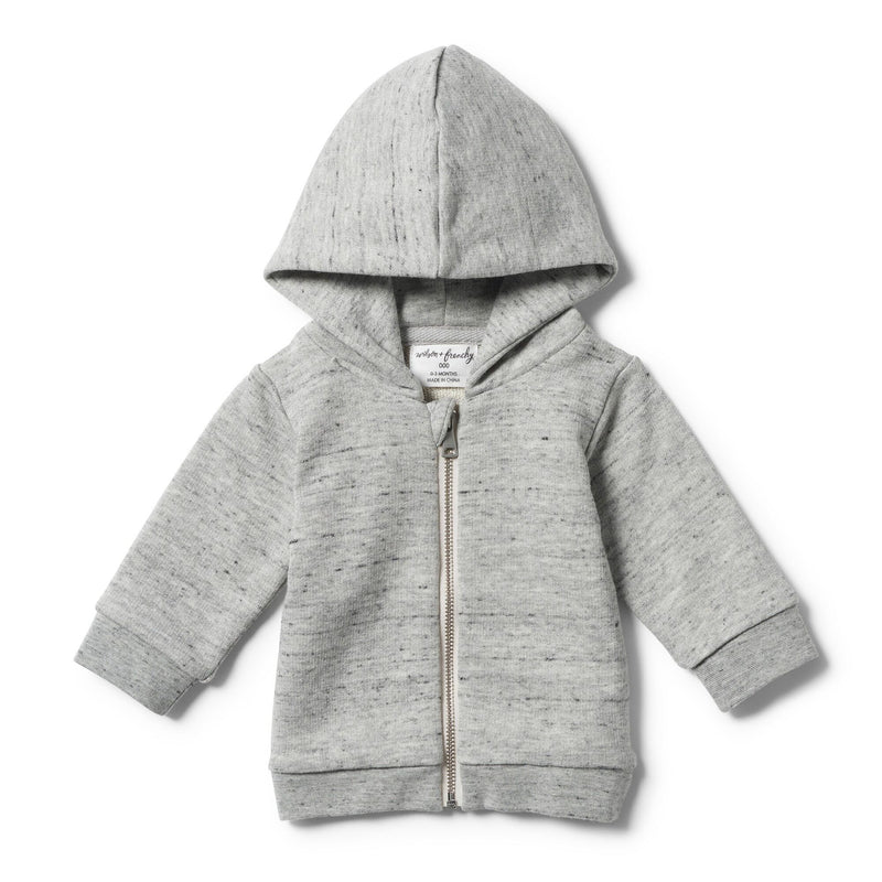 wilson and frenchy grey fleck hooded jacket