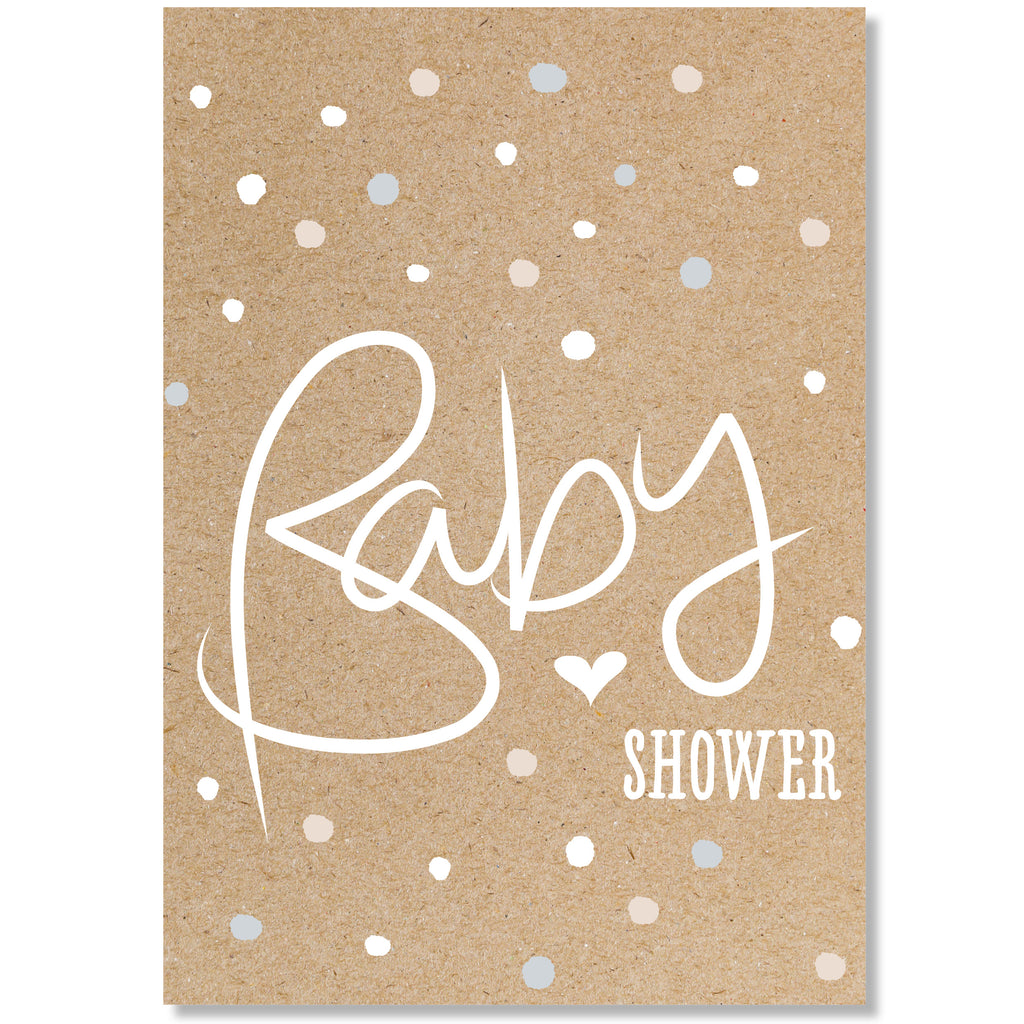 Baby Shower Confetti   Card. Baby ...