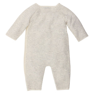 Bebe Grey Stripe Cashmere Wrap Romper at Little Steps