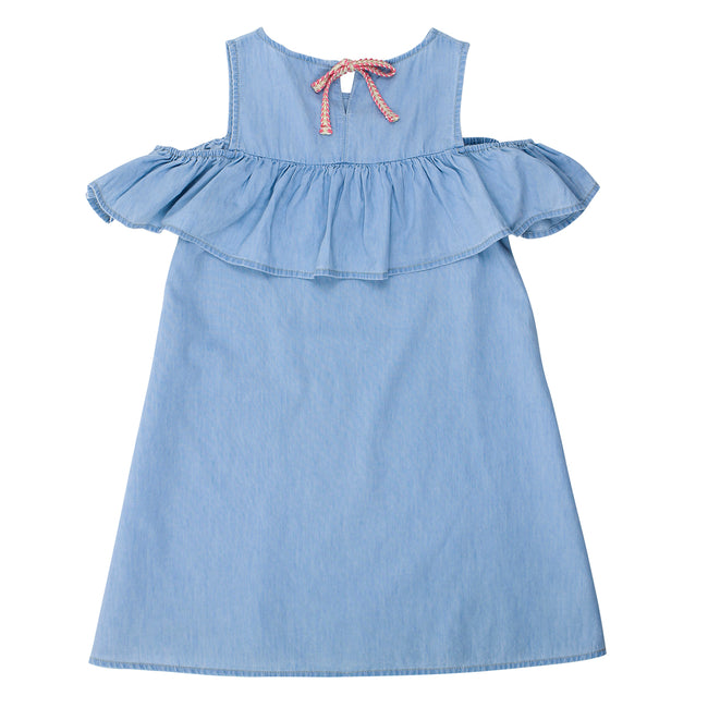 Belize Cold Shoulder Chambray Dress from Tahlia