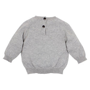 Bebe Oskar Graphic grey marle jumper at Little Steps