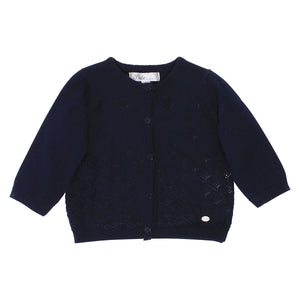 Bebe Navy Pointelle Cardigan at Little Steps