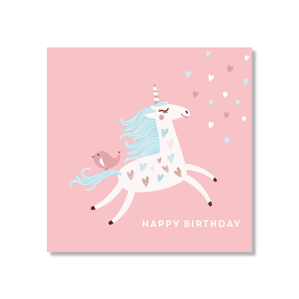 Pretty Unicorn Mini Birthday Card