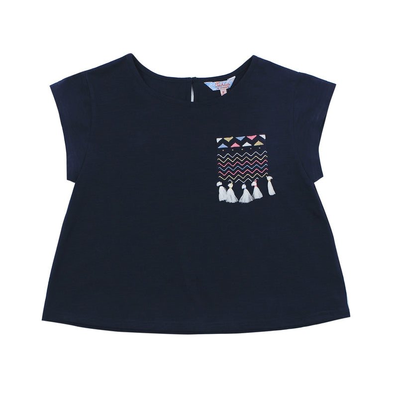 Jaipur Embroidered Pocket Tee