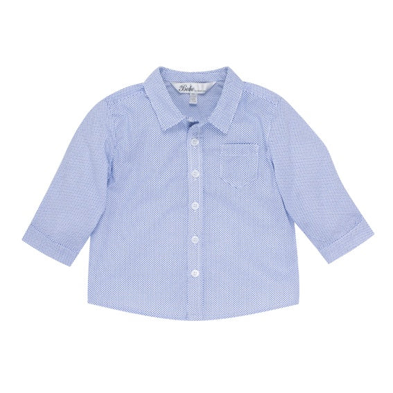 Charlie Ditsy Blue Long Sleeve Shirt