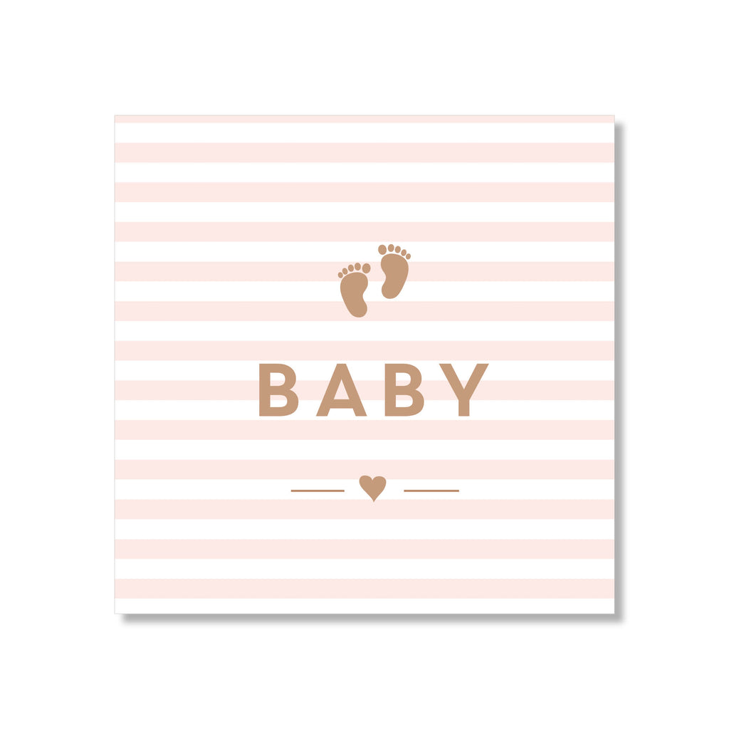 Baby Pink Stripe Mini Card