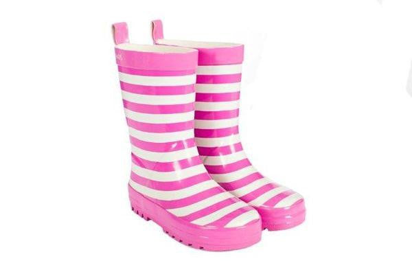 Pink Stripe Gumboot - Little Steps Bowral