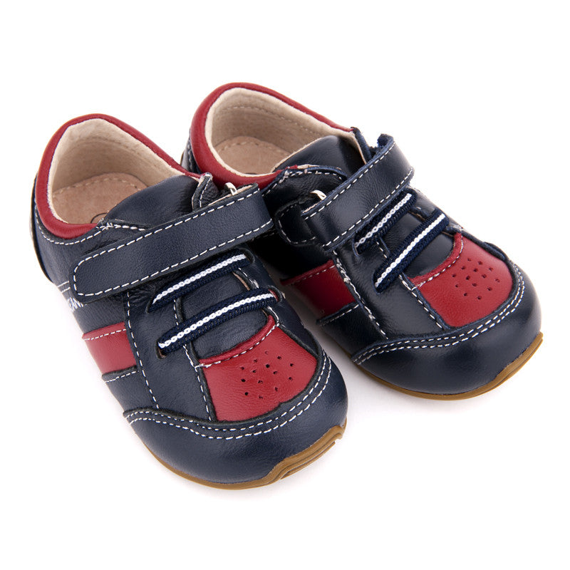Trainers Navy/Red - Little Steps Bowral - 1