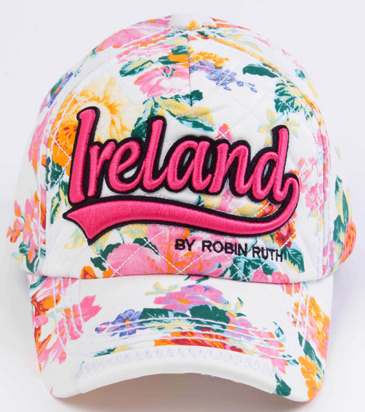 Ireland White Flower Hat Cap