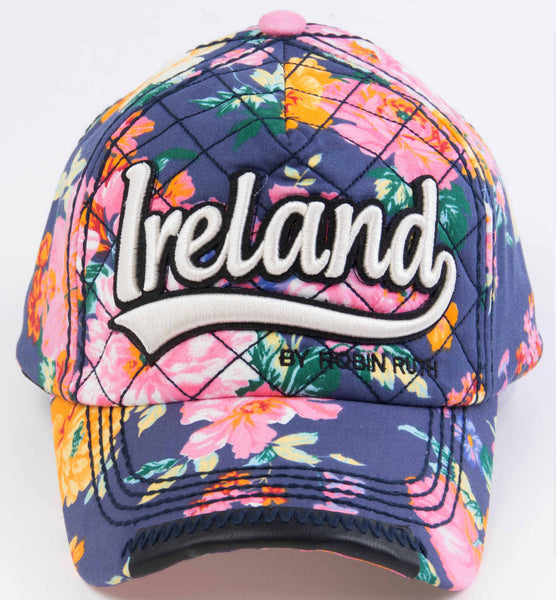 Ireland Blue Flower Hat Cap