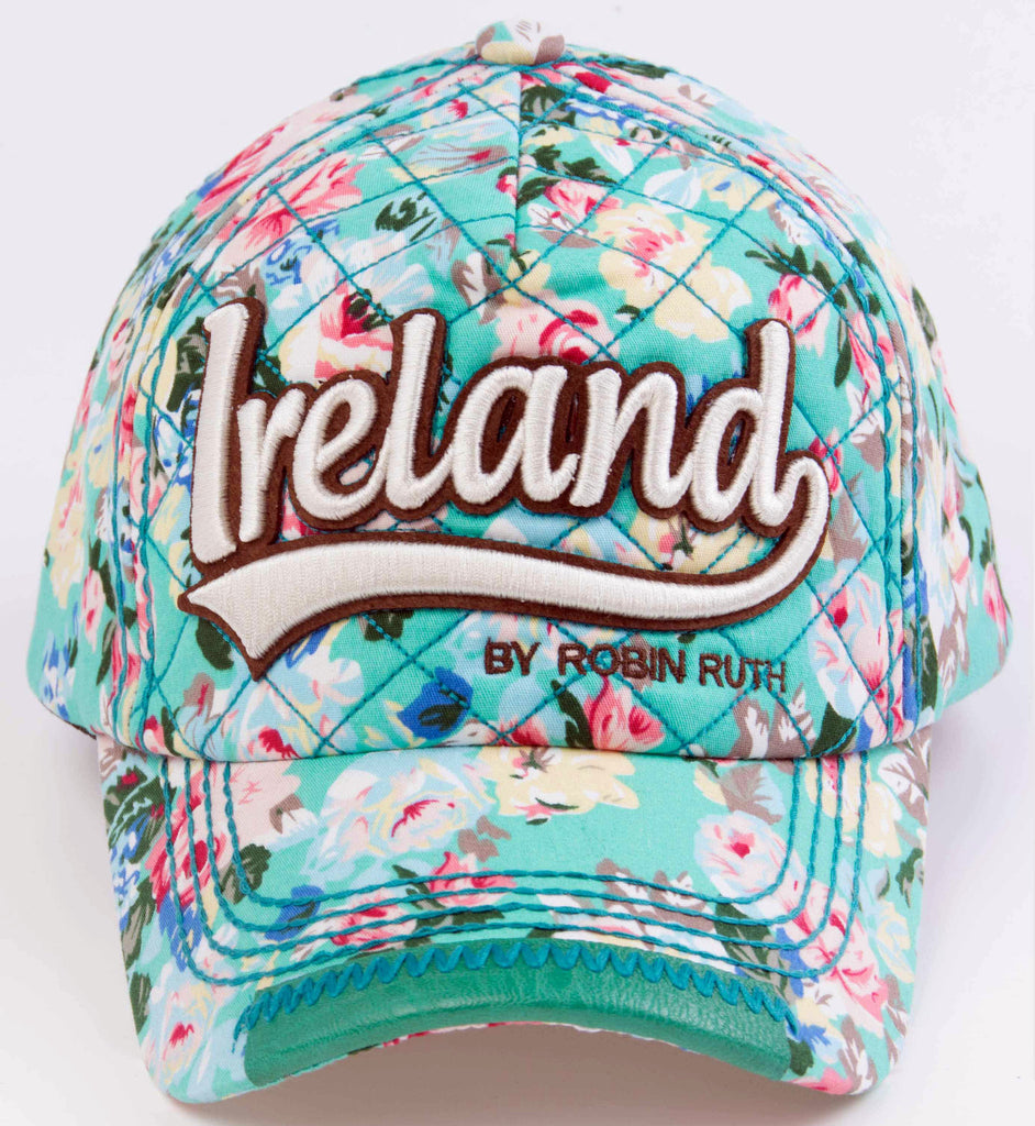 Ireland Green Flower Hat Cap