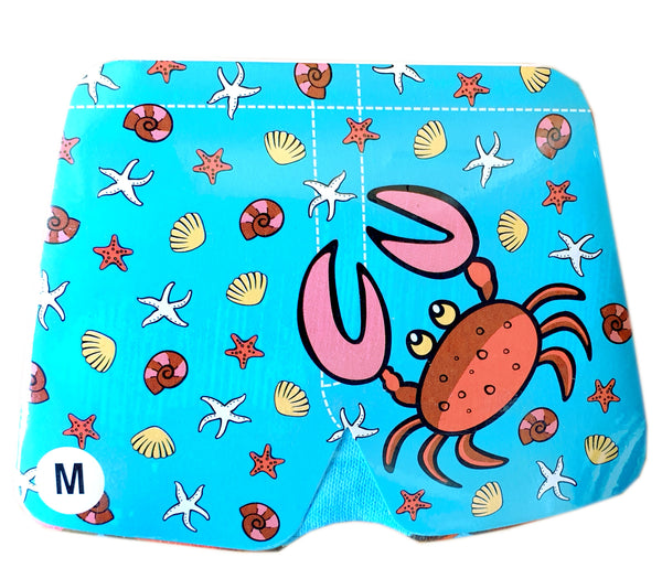 Magic Boxer Shorts Beach and crab design
