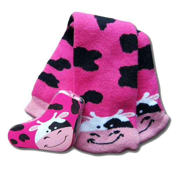 Magic Socks / Amazing Socks - Pink Cow