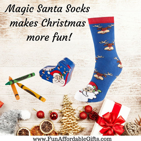 Santa Socks - Magic Santa Socks - Christmas Socks