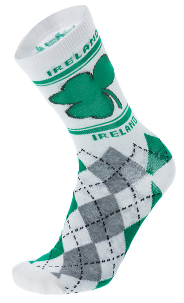 Robin Ruth Ireland Argyle Socks - White