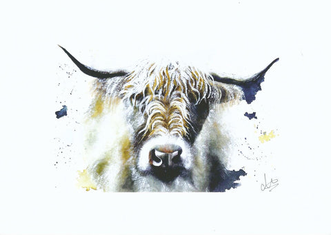 Cow print by artist Charlotte Brown