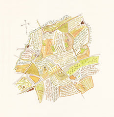 'Chigwell, Essex Field Names' by Rosamond Ulph.  Giclee print from a selection of art prints at The Prints Gallery