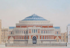 Royal Albert Hall - London  Limited edition giclee print by artist Andras Kaldor.  £80 at The Prints Gallery