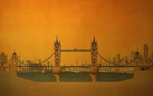 Tower Bridge - London  Limited edition giclee print by artist Andras Kaldor.  £80 at The Prints Gallery