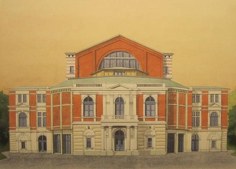 Festspielhous, Bayreuth.  Limited edition Giclee print by artist Andras Kaldor. £80 at The Prints Gallery