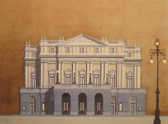 Teatro Alla Scala, Milano Limited edition giclee print by artist Andras Kaldor.  £80 at The Prints Gallery