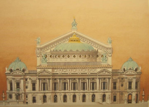 Palais Garnier, Paris  Limited edition giclee print by artist Andras Kaldor.  £80 at The Prints Gallery