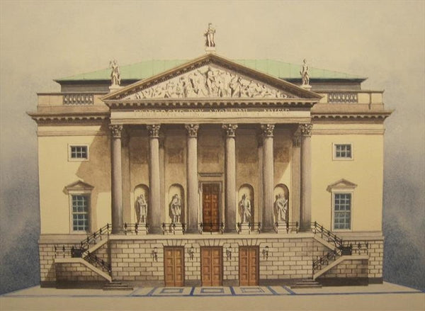 Giclee print of the Deutsche Staatsoper, Berlin by artist Andras Kaldor.  £80 at The Prints Gallery