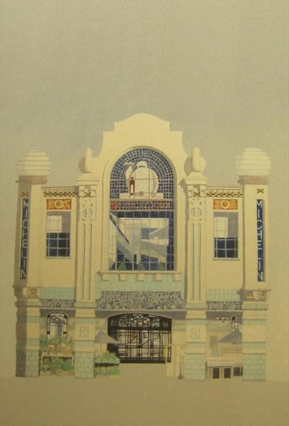 Michelin Building - London.  Limited edition giclee print by artist Andras Kaldor.  £80 at The Prints Gallery
