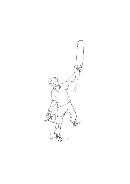 '50 Not Out' Cricket art print by Kate Spurway from The Prints Gallery.