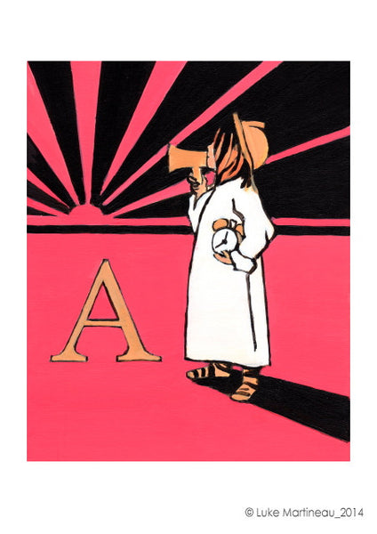 Luke Martineau Alphabet Series 'A is for Alarm' £50 at The Prints Gallery