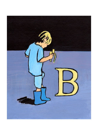 Luke Martineau Alphabet Series 'B is for Banana' £50 at The Prints Gallery