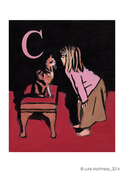 Luke Martineau Alphabet Series 'C is for Cat' £50 at The Prints Gallery
