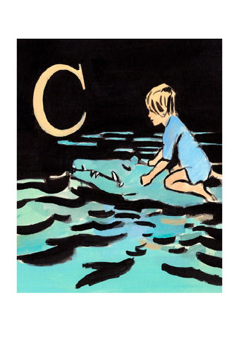 Luke Martineau Alphabet Series 'C is for Crocodile' £50 at The Prints Gallery