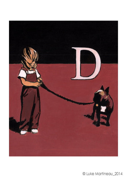 Luke Martineau Alphabet Series 'D is for Dog' £50 at The Prints Gallery