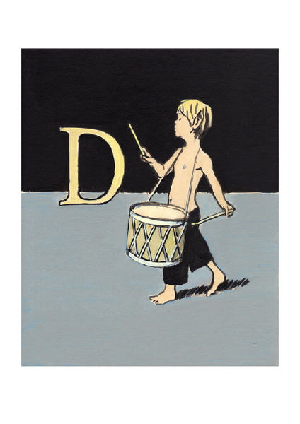 Luke Martineau Alphabet Series 'D is for Drum' £50 at The Prints Gallery