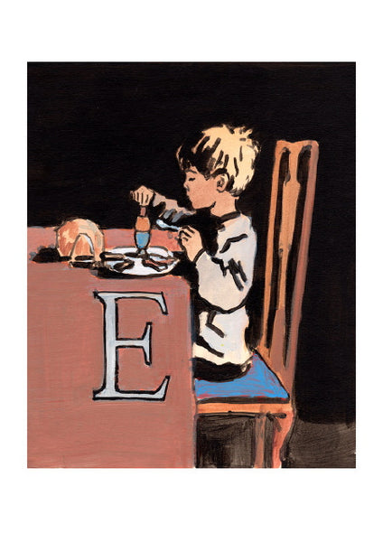 Luke Martineau Alphabet Series 'E is for Egg' £50 at The Prints Gallery
