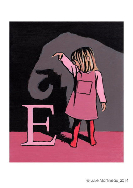 Luke Martineau Alphabet Series 'E is for Elephant' £50 at The Prints Gallery