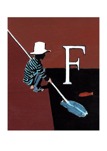 Luke Martineau Alphabet Series 'F is for Fish' £50 at The Prints Gallery