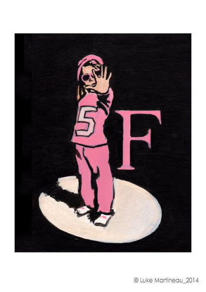 Luke Martineau Alphabet Series 'F is for Five' £50 at The Prints Gallery