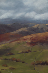 Fairfield from Wansfell. Giclee print by artist Paula Dunn from £125 at The Prints Gallery