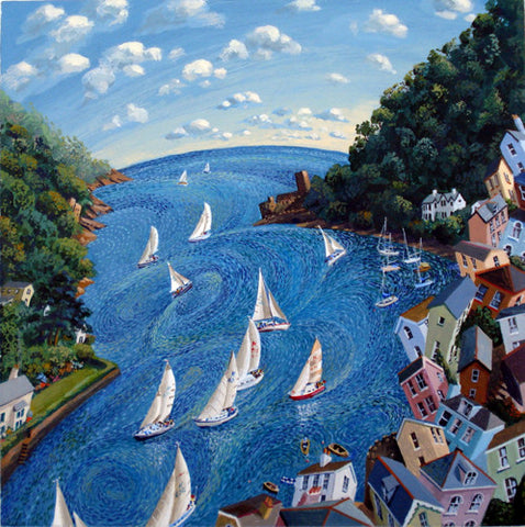 Boating scene giclee print by John Gillo at The Prints Gallery