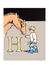 Luke Martineau Alphabet Series 'H is for Horse' £50 at The Prints Gallery
