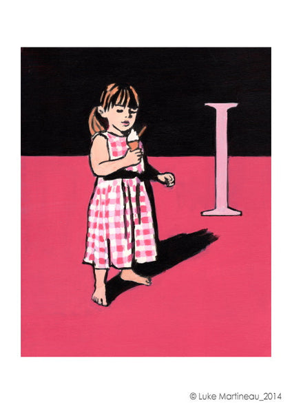 Luke Martineau Alphabet Series 'I is for Ice Cream' £50 at The Prints Gallery