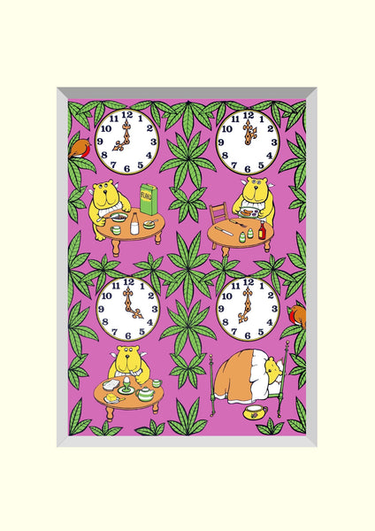 PACK OF 4 BEAR TIME  'BRILLOPRINT' GREETING CARDS