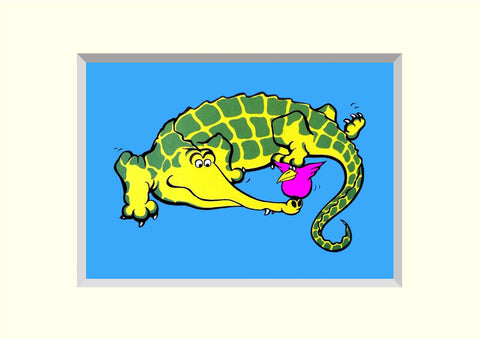 PACK OF 4 CROCO-DOODLE 'BRILLOPRINT' GREETING CARDS