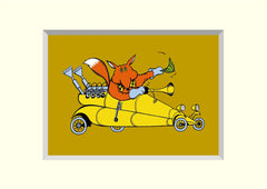 PACK OF 4 FOX SPEEDSTER 'BRILLOPRINT' GREETING CARDS