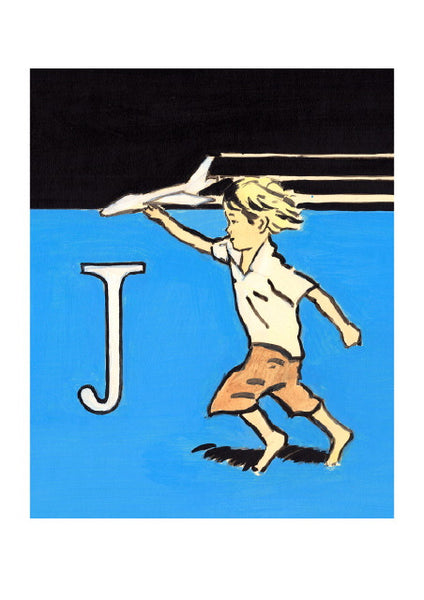 Luke Martineau Alphabet Series 'J is for Jet' £50 at The Prints Gallery