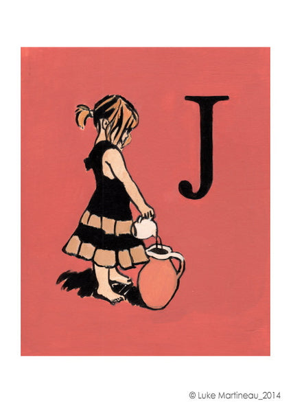 Luke Martineau Alphabet Series 'J is for Jug' £50 at The Prints Gallery